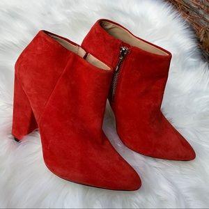 Zara Ankle Heeled Zipper Point Toe Mod Booties